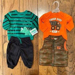 Baby Boy 2-Piece Outfits Size: 0-3M